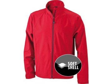 Pánská SoStylová pánská 3vrstvá softshellová bunda červená