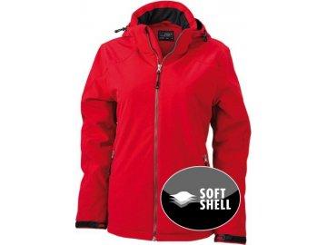 Dámská ziDámská zimní sportovní softshellová bunda červená