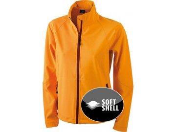 Dámská Softshell bunda (Barva Červená, Velikost oděvů XXL)