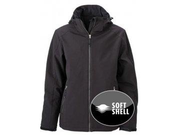 Pánská zimní sportovní softshellová bunda černá