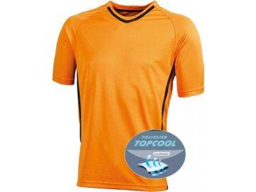 Funkční týmové tričko pro dospělé oranžová