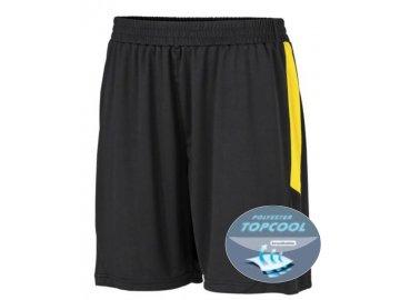 Funkční fotbalové šortky černá žlutá