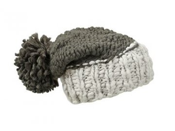 Čepice Coarse Knitted Hat with Pompon