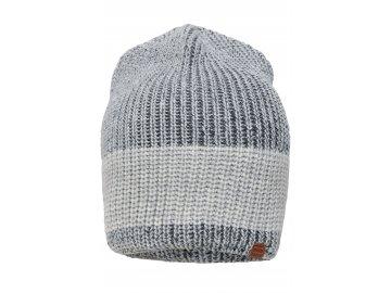 Melírovaná čepice v módním žebrovaném designu světle šedá