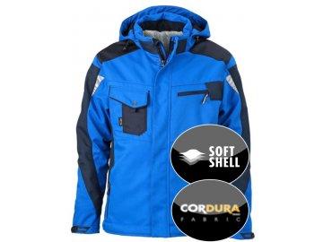 Robustní pracovní softshellová bunda modrá