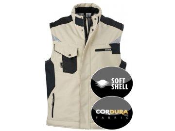 Vesta Craftsmen Softshell Vest (Barva Bílá - karbon, Velikost oděvů XXL)