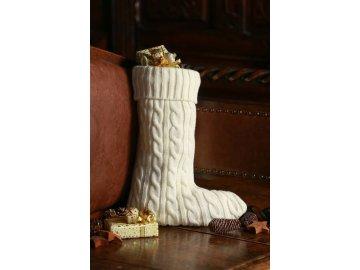 Vánoční ponožka s pěkným vzorem