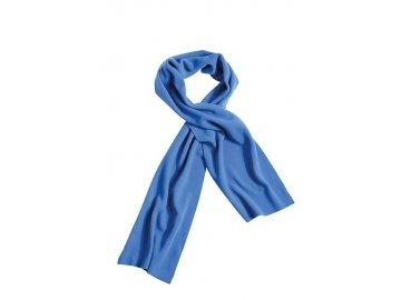 Extra široká fleece šála bez okraje modrá
