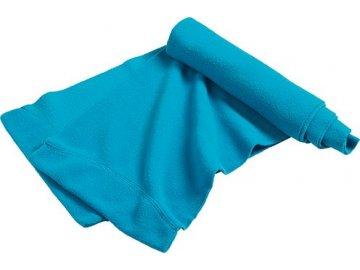 Elegantní fleece šála s dvojitým zakončením tyrkysová