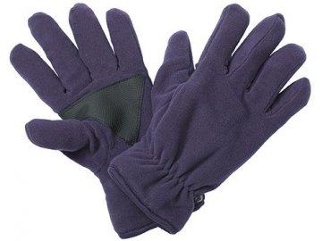 Teplé micro fleece rukavice fialová