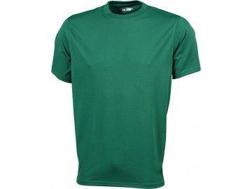 Pánské funkční tričko s krátkým rukávem pro volný čas a sport zelená