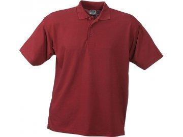 Pánská pracovní polokošile Polo-Piqué Worker (Barva Vínová, Velikost oděvů XXL)