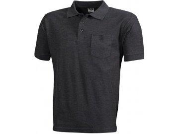 Pánská polokošile Polo-Piqué Pocket (Barva Bílá, Velikost oděvů XXL)