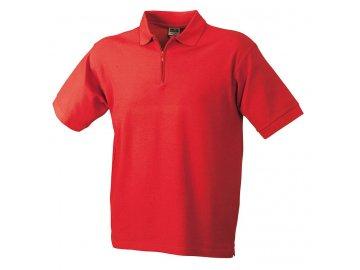 Pánská polokošile Polo-Piqué Zip (Barva Bílá, Velikost oděvů XXL)