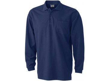 Pánská polokošile Polo Piqué Longsleeved (Barva Bílá, Velikost oděvů XXL)