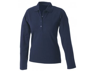 Dámská polokošilPohodlné dámské polo triko s dlouhým rukávem námořní modrá