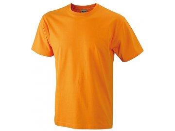 Kvalitní odolné klasické pánské tričko v nadměrné velikosti oranžová