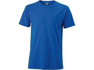 Přiléhavé pánské tričko modrá cobalt