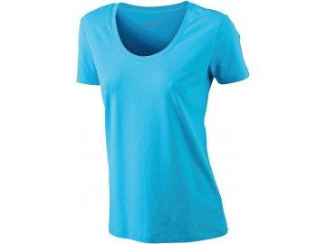 Dámské elastické tričko tyrkys