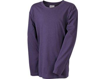 Kvalitní dětské tričko s dlouhým rukávem fialová