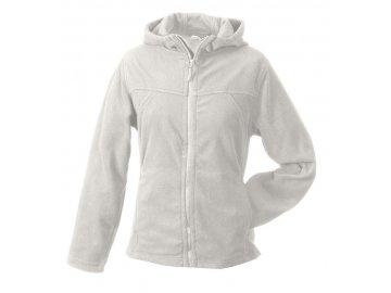 Dámská bunda Microfleece Jacket Hooded (Barva Bílá, Velikost oděvů XXL)