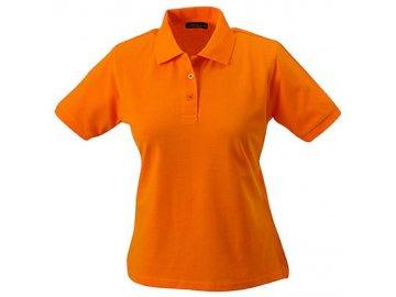 Odolné dámské klasické triko polo s pratelností až 95° oranžová