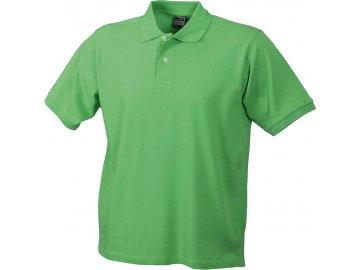 Klasické pánské piqué tričko polo zelená