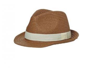 Letní ležérní klobouk v hnědá