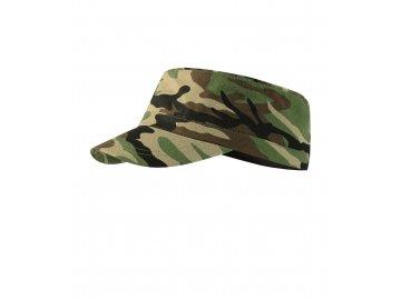 Bavlněná kšiltovka v army stylu Latino camouflage hnědá