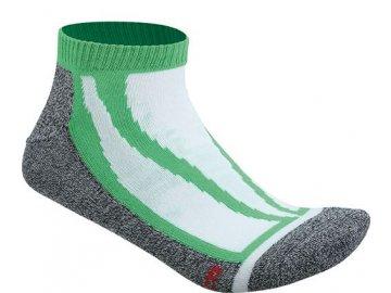 Funkční a sportovní krátké ponožky zelená