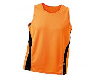 Pánské běžecké triko bez rukávů oranžová