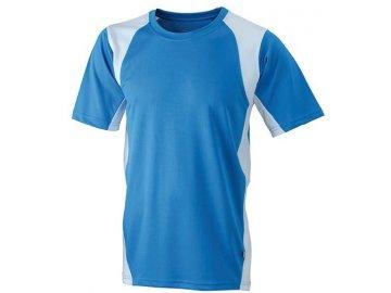 Pánské běžecké tričko s materiálem Topcool modrá královská bílá