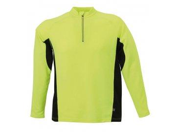 Pánské běžecké triko Running Shirt (Barva Bílá - černá, Velikost oděvů XXL)