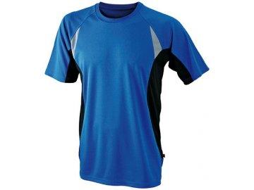 Pánské běžecké triPánské běžecké prodyšné tričko modrá královská