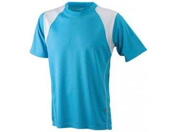 Pánské běžecké Pánské prodyšné běžecké tričko tyrkysová