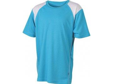 Dětské běžeckDětské běžecké prodyšné triko tyrkysová