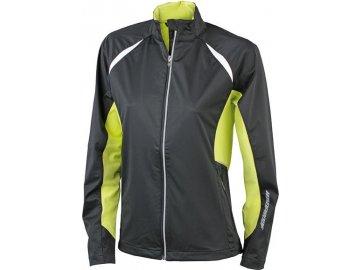 Dámská sportovní bunda Sports Jacket Windproof (Barva Tyrkysová - carbon, Velikost oděvů XXL)