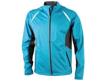 Pánská sportovní bunda Sports Jacket Windproof (Barva Tyrkysová - carbon, Velikost oděvů XXL)