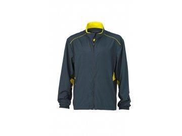 Lehká pánská sportovní běžecká bunda  šedá