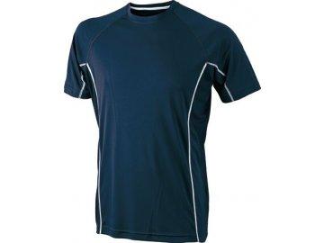Pánské běžecké tričko s reflexními prvky modrá