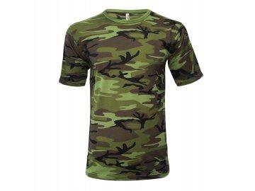 Pánské tričko ve vojenském designu, barvách Military