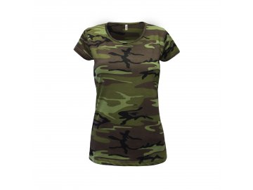 Dámské tričko camouflage, military design