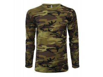 Pánské triko s dlouhým rukávem v barvách Military