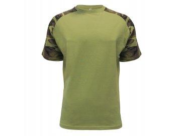 Pánské tričko s raglánovým rukávem v barvě Military, camouflage.
