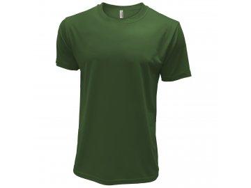 Pánské tričko z předsrážené bavlny zelená