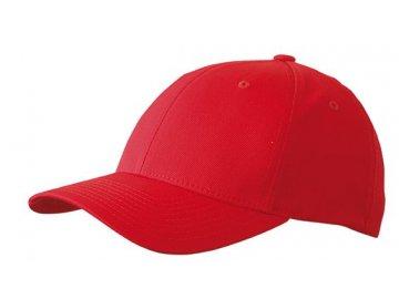 Funkční Flexfit 6 panelová kšiltovka v klasickém tvaru červená