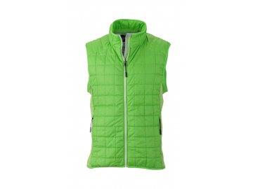 Senzační jarní tenká prošívaná vesta zelená