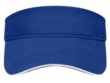 Bavlněný kšilt s kontrastním proužkem v kšiltu zelená