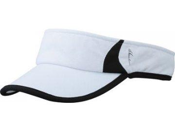 Kvalitní sportovní běžecký kšilt bílá černá