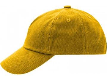 Dětská bavlněná kšiltovka se širokým kšiltem modrá